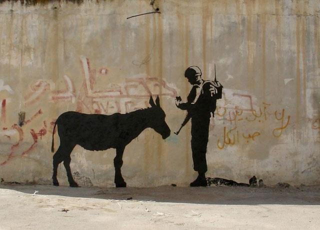 Banksey Photo from Santa's Ghetto website